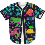 The Adventures of Rick and Morty Monsters Trippy Baseball Jersey