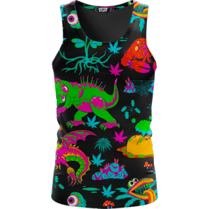 The Adventures of Rick and Morty Monsters Trippy Marijuana Tank Top