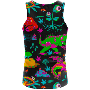 The Adventures of Rick and Morty Monsters Trippy Marijuana Tank Top Back