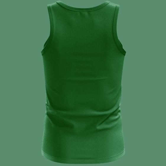 Tiger Smoking Doobie Weed Marijuana Green Awesome Tank Top - Back
