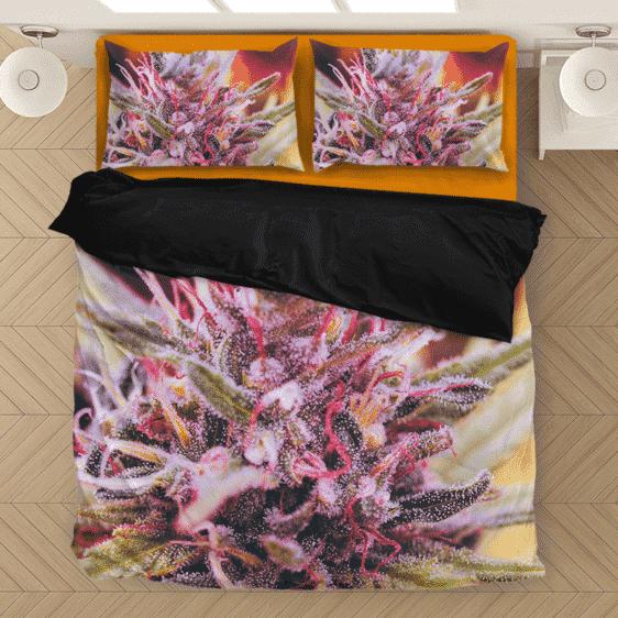 Top Shelf Marijuana Weed 420 Black Dope Plant Bedding Set