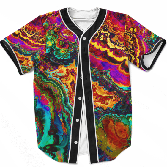 Trippy Psychedelic Morty Weed Art Marijuana 420 Baseball Jersey