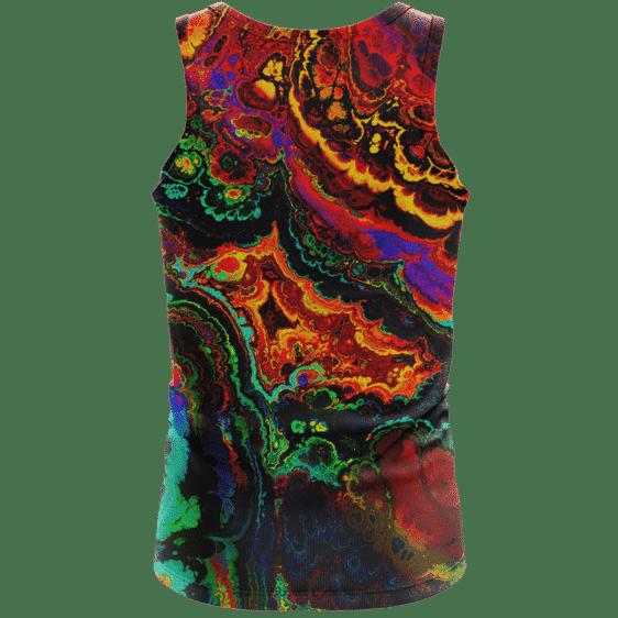 Trippy Psychedelic Morty Weed Art Marijuana 420 Tank Top Back