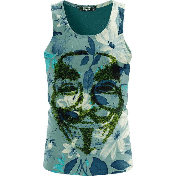 V For Vendetta Grinded Weed Cute Floral Bomb Tank Top