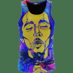 Vibrant Bob Marley Trippy Nature 420 Marijuana Weed Tank Top