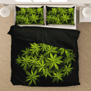 Weed Kush Ganja Plant 420 Marijuana Plant Cool Bedding Set