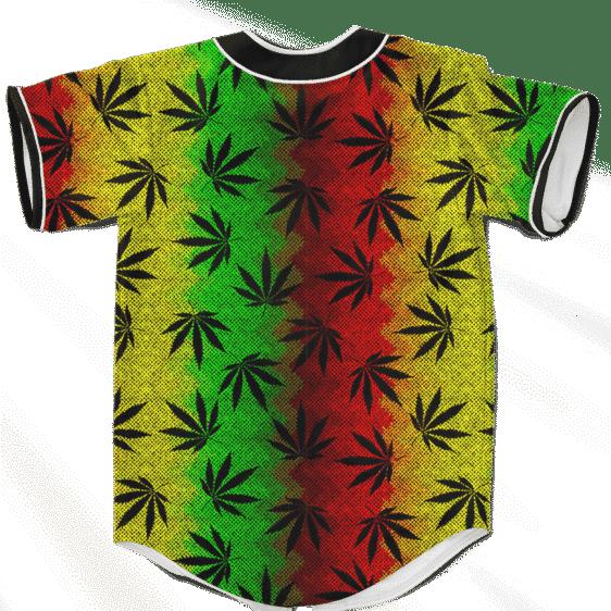 Weed Leaves Marijuana 420 Cool Reggae Pattern Baseball Jersey