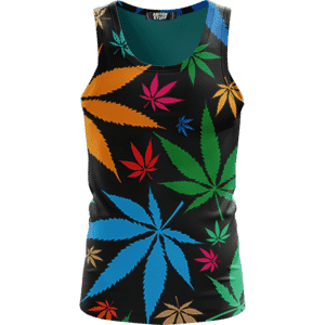 Weed Marijuana Colorful Seamless Pattern Dope Tank Top