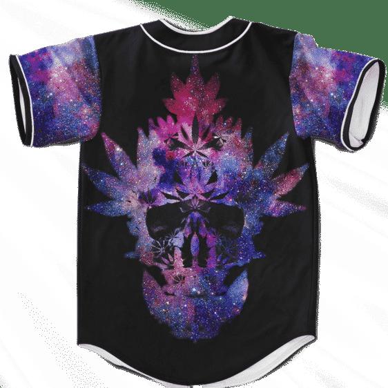 Weed Skull Galaxy Dope VIbrant 420 Marijuana Baseball Jersey
