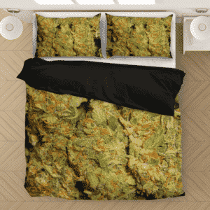 Weed Top Shelf Quality Nugs Marijuana 420 Bedding Set