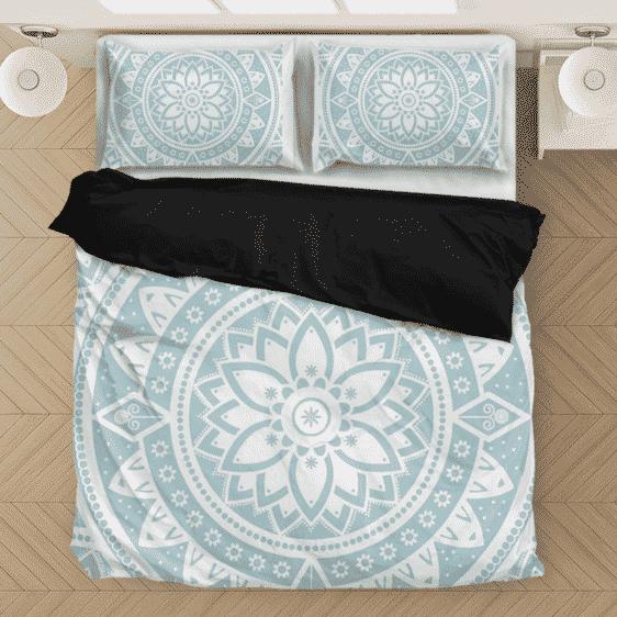 Zen Mandala Flower Minimalist Light Color Bedding Set
