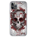 Dope Skull With Red Elegant Patterns Awesome iPhone 12 Case
