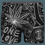 420 Blaze It One Love Marijuana Black And White Dope Men's Boxer