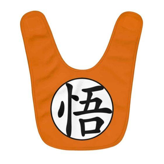 Dragon Ball Z Son Goku Kanji Symbol Orange Awesome Baby Bib