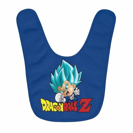 Dragon Ball Z Angry Vegeta Blue Punch Awesome Baby Bib