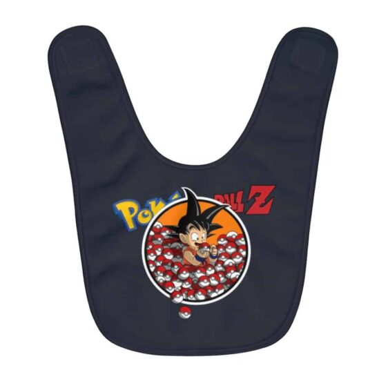 DBZ Pokemon Kid Goku Holding Pokeballs Awesome Baby Apron