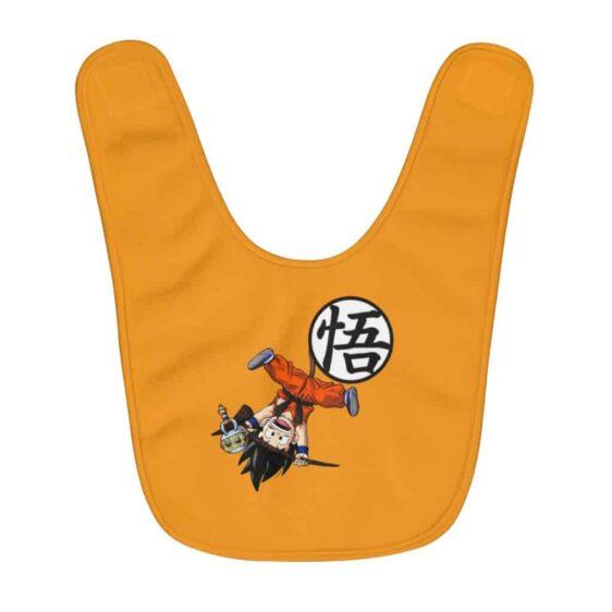 Dragon Ball Z Playful Kid Goku & Kanji Symbol Cute Baby Bib