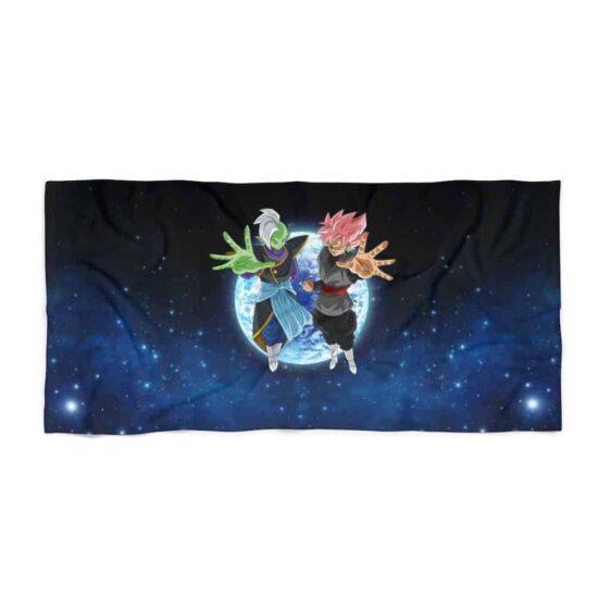 DBS Zamasu Goku Black Saiyan Rose Galaxy Awesome Beach Towel