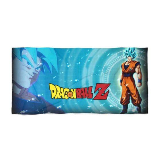 Dragon Ball Z Goku Super Saiyan Blue Banner Cool Beach Towel