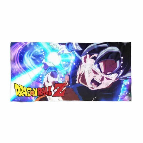Dragon Ball Z Goku Ultra Instinct Kamehameha Dope Beach Towel
