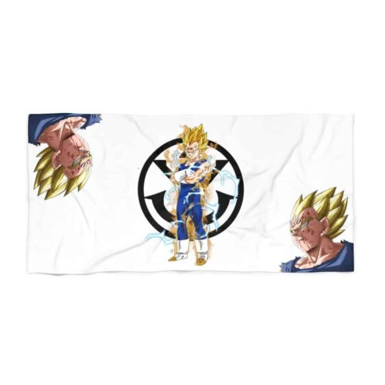 Dragon Ball Z Majin Vegeta Saiyan Crest Awesome Beach Towel