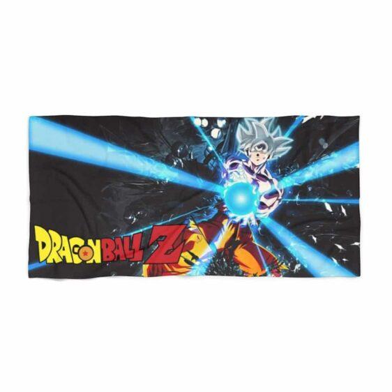 Dragon Ball Z Goku Ultra Instinct Attack Mode Beach Towel