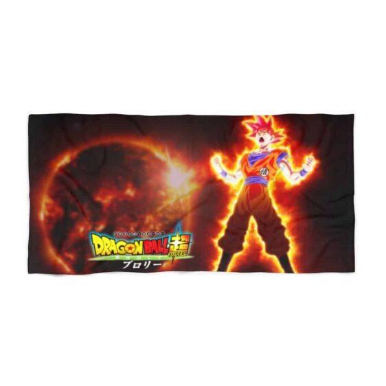 Dragon Ball Super Goku Super Saiyan Red Charge Up Beach Towel