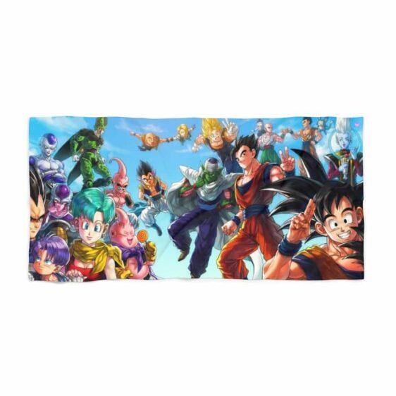 Dragon Ball Z Family Major Characters Art Awesome Beach Towel