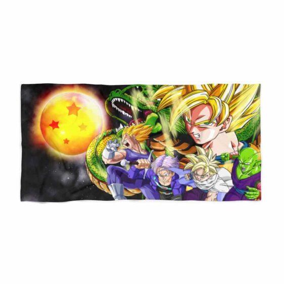 DBZ Mad Goku Vegeta Gohan & Shenron Cool Beach Towel
