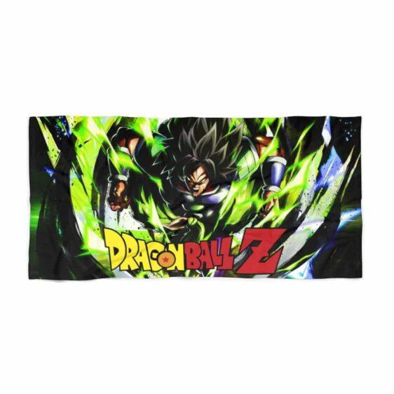 Dragon Ball Z Enraged Saiyan Broly Scream Green Beach Towel