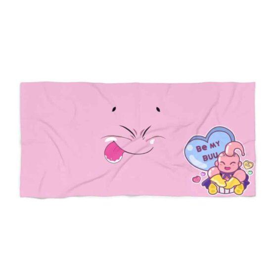 DBZ Be My Buu Majin Buu Cute Graphic Pink Beach Towel