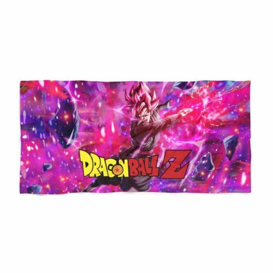 Dragon Ball Z Goku Black Saiyan Rose Badass Art Beach Towel