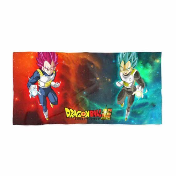 Dragon Ball Super Vegeta SSJ Blue & Red Cool Beach Towel