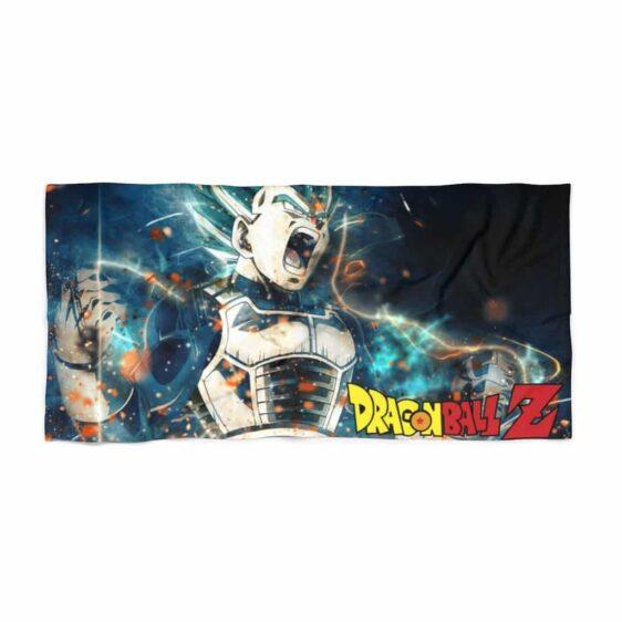 Dragon Ball Z Super Saiyan Blue Vegeta Charge Up Beach Towel
