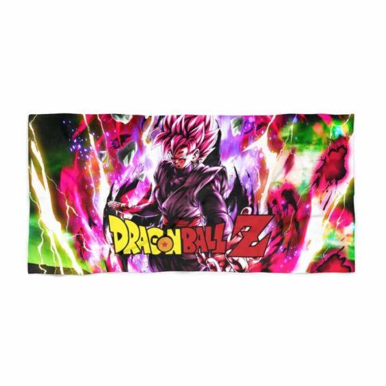 Dragon Ball Z Goku Black SSJ Rose Smirk Dope Beach Towel