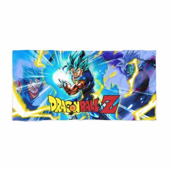 Dragon Ball Z Vegito Blue Flash vs Zamasu Dope Beach Towel