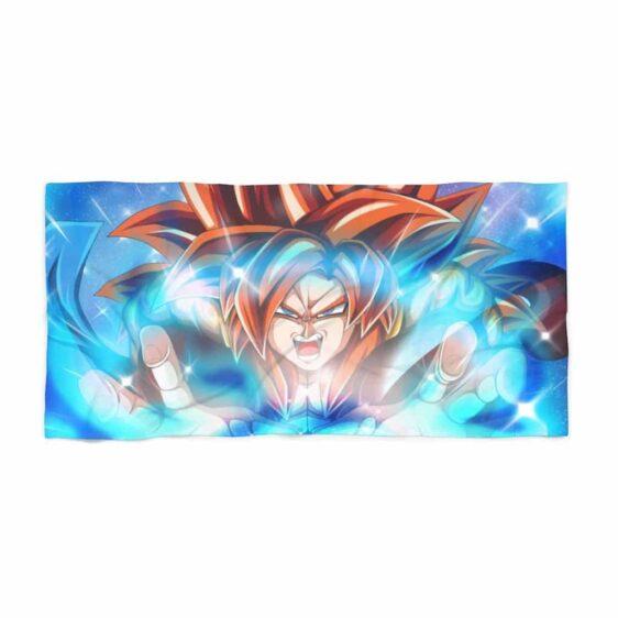 Dragon Ball Z Super Saiyan 4 Gogeta Close-Up Cool Beach Towel