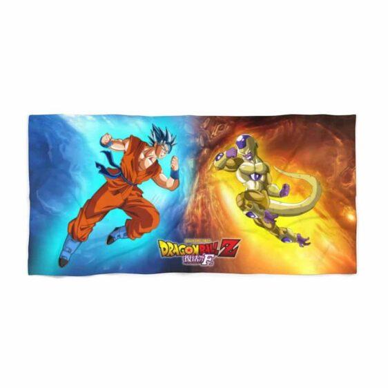 Dragon Ball Resurrection F Goku vs Frieza Poster Beach Towel