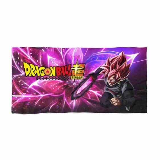 DBS Goku Black Saiyan Rose With Blade Dope Beach Towel