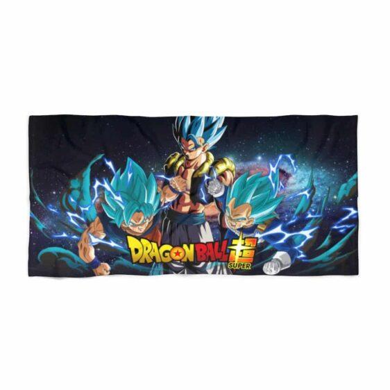 Dragon Ball Super Goku Vegeta Gogeta Blue Poster Cool Beach Towel