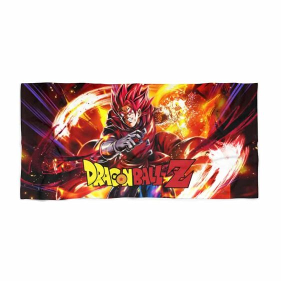Dragon Ball Legends Giblet The Saiyan In Red Dope Beach Towel