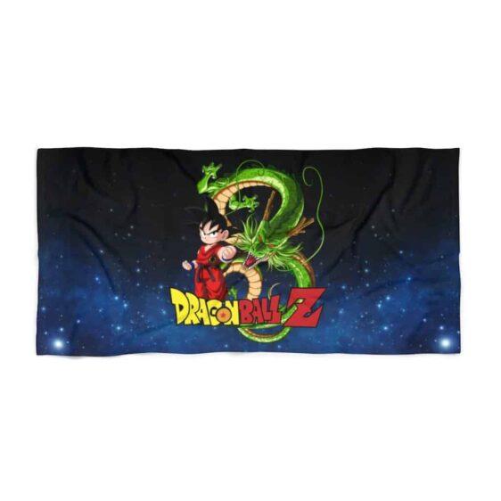 Dragon Ball Z Kid Goku & Shenron Galaxy Art Cool Beach Towel