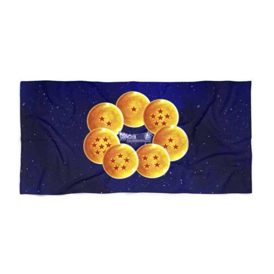 DBS Shenron Seven Earth Dragon Balls Galaxy Beach Towel