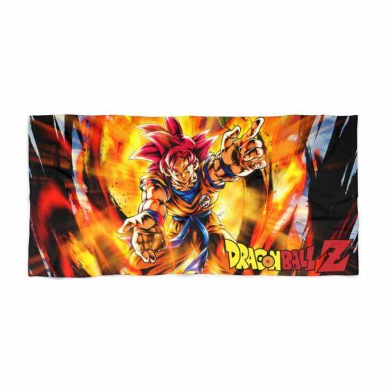 Dragon Ball Z Goku Super Saiyan Red Comic Art Cool Beach Towel