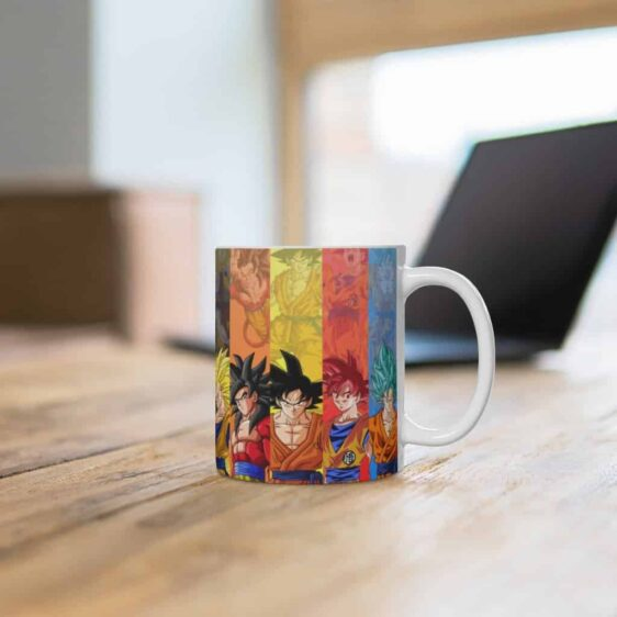 Dragon Ball Z All Goku Forms Cool Ceramic Coffee Mug