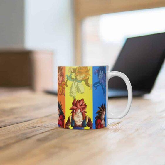 Dragon Ball Z Goku Vegeta Gogeta Fusion Forms Ceramic Mug
