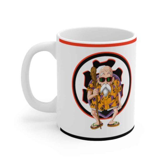 Dragon Ball Z Master Roshi The Turtle Hermit White Ceramic Mug