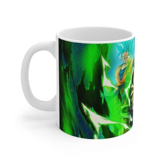 Dragon Ball Broly vs SSJ Blue Goku Vegeta Dope Coffee Mug