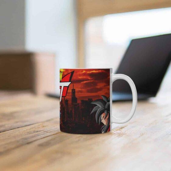 Dragon Ball GT SSJ4 Goku & Vegeta In Destroyed City Coffee Mug