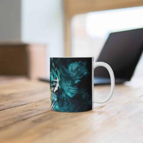 Dragon Ball Z Super Saiyan Blue Goku Vegeta Ceramic Coffee Mug